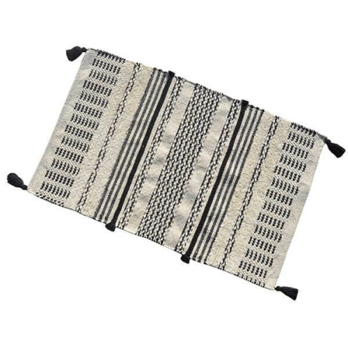 Beige & Black Pattern Rug