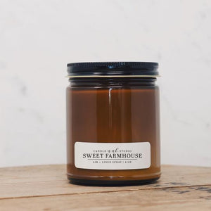 Amber Glass Soy Candle