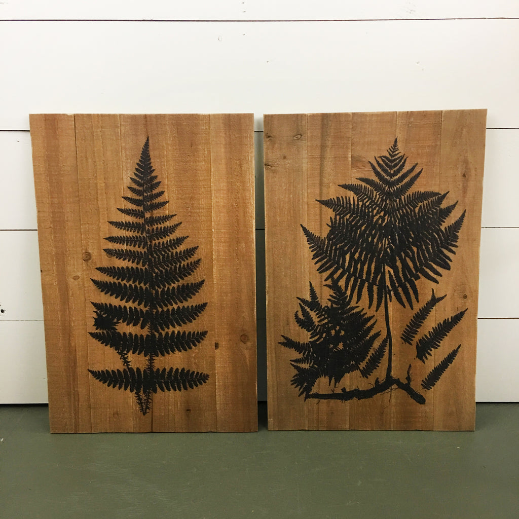 Fern Wall Print on Wood