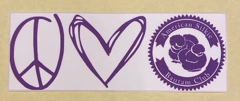 ASBC Peace, Love & Silkies Adhesive Decal