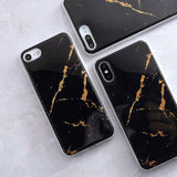 Gold/Black Marble Stone