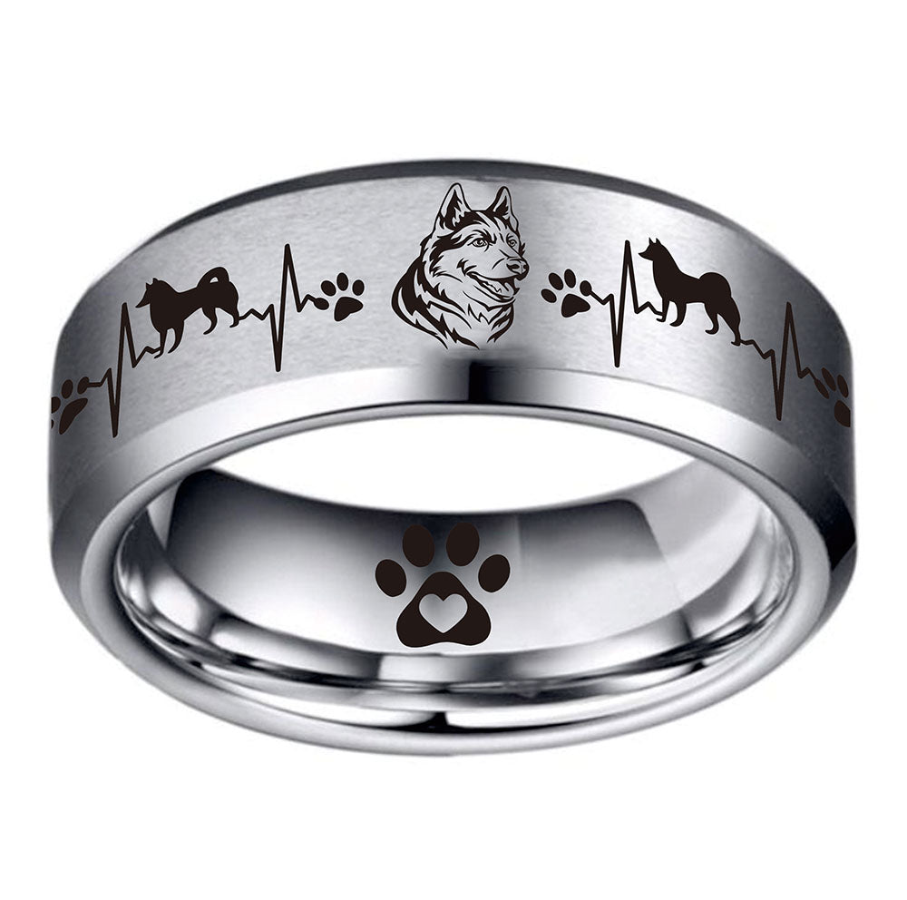 Today Only 70% Off 😍 Husky Lover 🐶 Titanium Ring ⭐️⭐️⭐️⭐️⭐️ Reviews