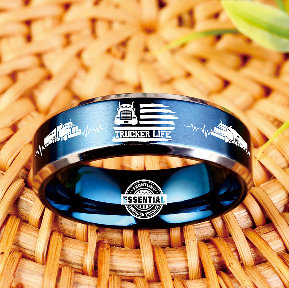 😎 Today Only 60% Off  Essential Trucker Life Titanium Ring 🇺🇸  ⭐️⭐️⭐️⭐️⭐️  Reviews