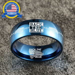 😎 Today Only 60% Off  Back The Blue Titanium Ring 🇺🇸  ⭐️⭐️⭐️⭐️⭐️  Reviews