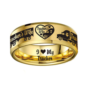 Today Only 70% Off 😍  Trucker Wife Titanium Ring  ⭐️⭐️⭐️⭐️⭐️Reviews