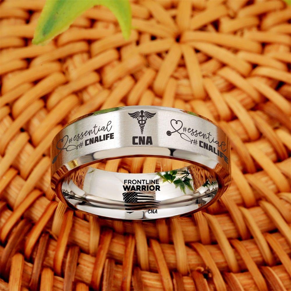 Today Only 60% Off 😍  Free Bracelet W/Purch! 🏥 CNA Titanium Ring  ⭐️⭐️⭐️⭐️⭐️  Reviews
