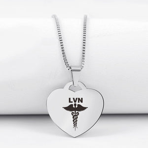 Today Only 60% Off 😍  LVN Heart Pendant Necklace 🏥