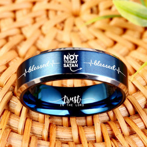 Today Only 60% Off 😍  Free Bracelet W/Purch! ✝️ Not Today Satan Titanium Ring  ⭐️⭐️⭐️⭐️⭐️  Reviews