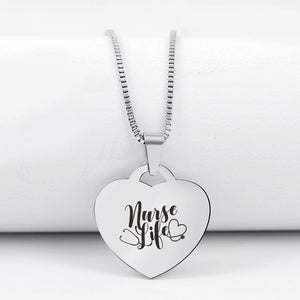 Today Only 60% Off 😍  Nurse Life👩🏼‍⚕️ Heart Pendant Necklace