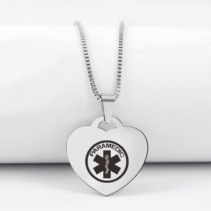 Today Only 60% Off 😍  Choose EMT or Paramedic 🚑  Heart Pendant Necklace