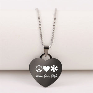 60% Off 😍  Peace Love EMS Necklace