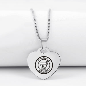 Today Only 60% Off 🔥 Pharmacy Tech Heart Pendant Necklace