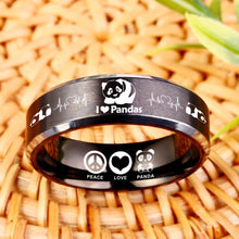 Today Only 60% Off 😍  Free Bracelet W/Purch! I Love Pandas Titanium Ring  ⭐️⭐️⭐️⭐️⭐️  Reviews