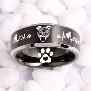 Today Only 60% Off  + FREE BRACELET 😍 Pit Bull Lover Titanium Ring  ⭐️⭐️⭐️⭐️⭐️ Reviews