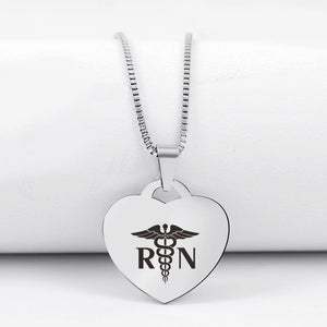 Today Only 60% Off 😍  RN Life👩🏼‍⚕️ Heart Pendant Necklace