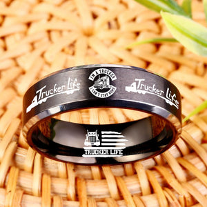 Today Only 60% Off 😍  Free Bracelet W/Purch! 🇺🇸 I'm A Trucker Titanium Ring  ⭐️⭐️⭐️⭐️⭐️  Reviews