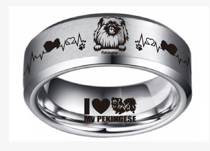 Today Only 60% Off 😍 FREE Bracelet w/ Purchase 🐕 Pekingese Lover Titanium Ring ⭐️⭐️⭐️⭐️⭐️ Reviews