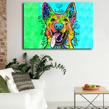 German Shepherd Wall Art Painting 😍