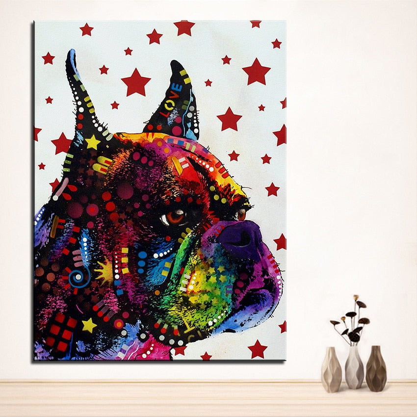 😍 Today 50% Off 🐕 Boxer 3D Painting