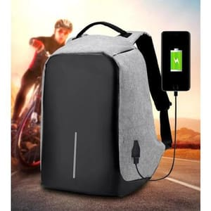 Anti theft USB Charging Backpack (Powerbank Required)