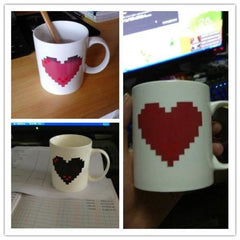Image of Pixel Heart Temperature Sensitive Mug