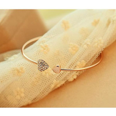 Trendy Heart Crystal Bracelet For Women Bracelet