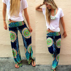 Image of Floral Long Harem Trousers
