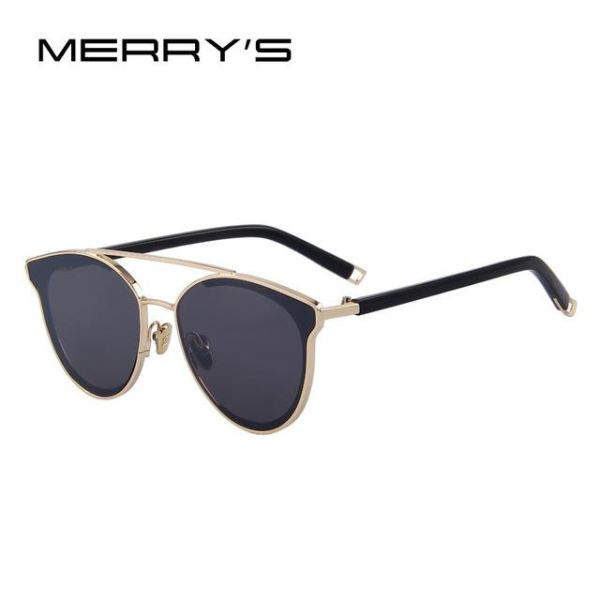 Super Stylish Cat Eye Sunglasses For Women C05 Gold Sunglasses
