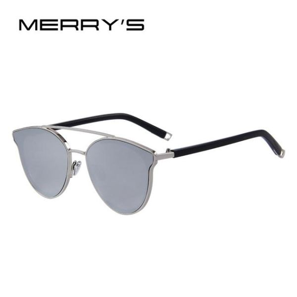 Super Stylish Cat Eye Sunglasses For Women C07 Silver Sunglasses