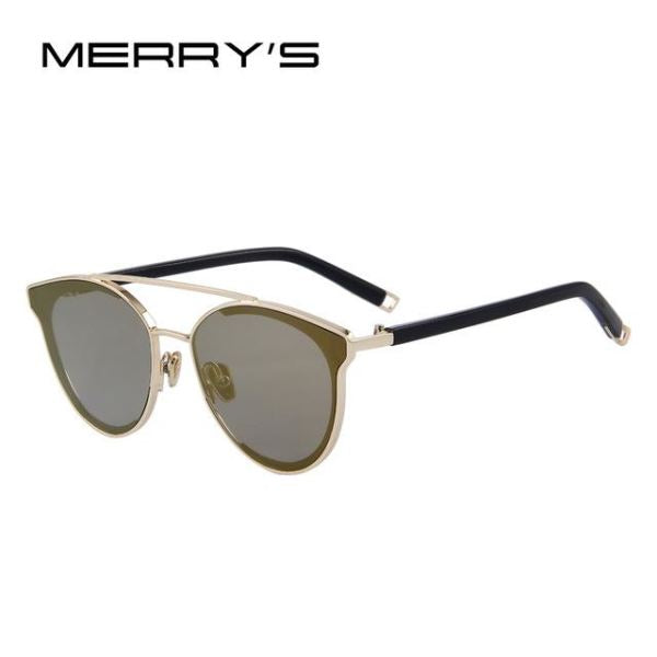 Super Stylish Cat Eye Sunglasses For Women C08 Brown Mirror Sunglasses