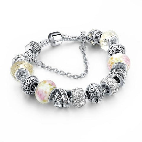 Trendy New Crystal Beads Bracelets Bangles White Bracelet