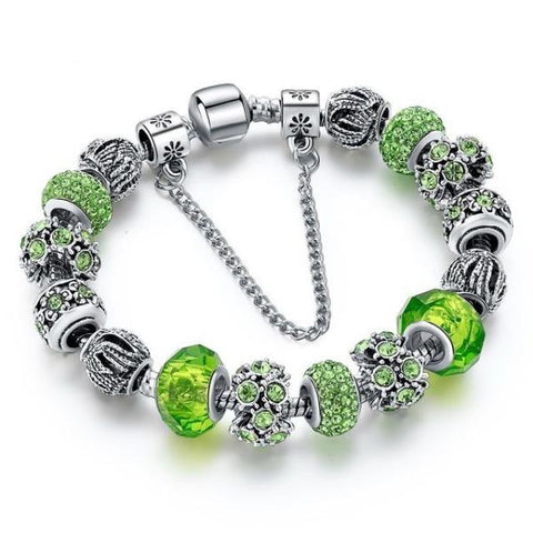 Trendy New Crystal Beads Bracelets Bangles Green 1 Bracelet