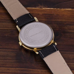 Trendy  World Map Watch With Leather Strap