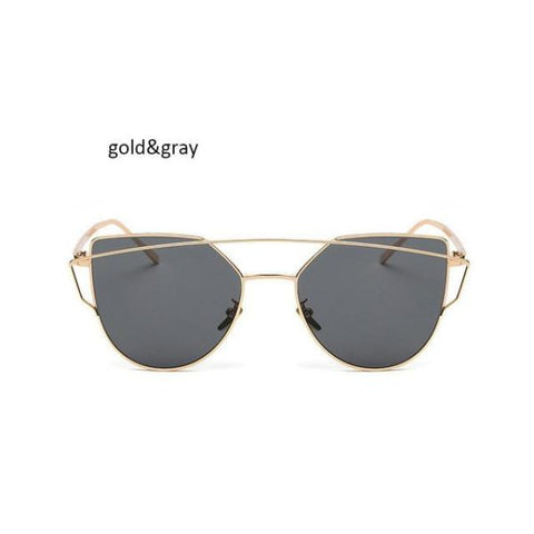 Classic Cat Eye Sunglasses Gold Gray Sunglasses