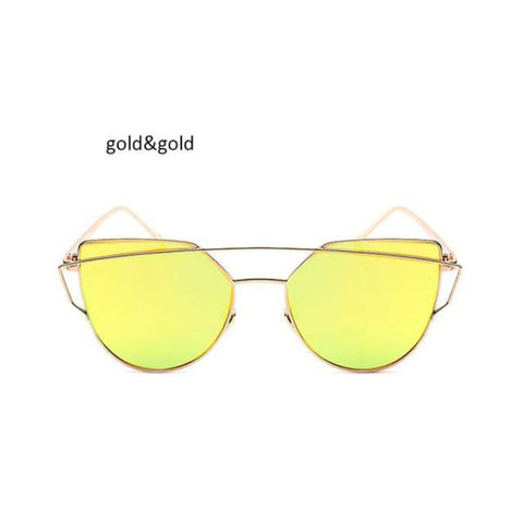Classic Cat Eye Sunglasses Gold Sunglasses