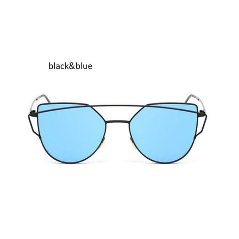 Classic Cat Eye Sunglasses Black Blue Sunglasses