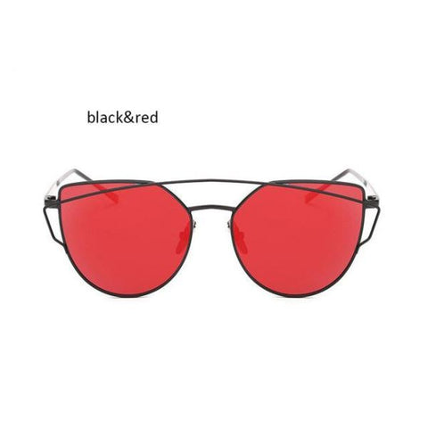 Classic Cat Eye Sunglasses Black Red Sunglasses