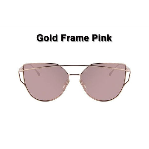 Stylish Twin-Beams Cat Eye Sunglasses Sunglasses