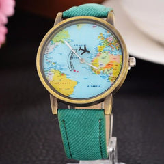 Cool World Map Flight Airplane Watch For Travelers