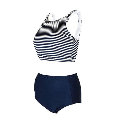 2 Piece Stripe Swimsuit