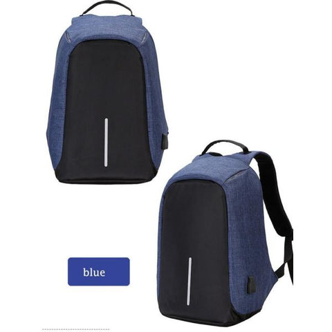 Anti Theft Usb Charging Backpack (Powerbank Required) Backpack