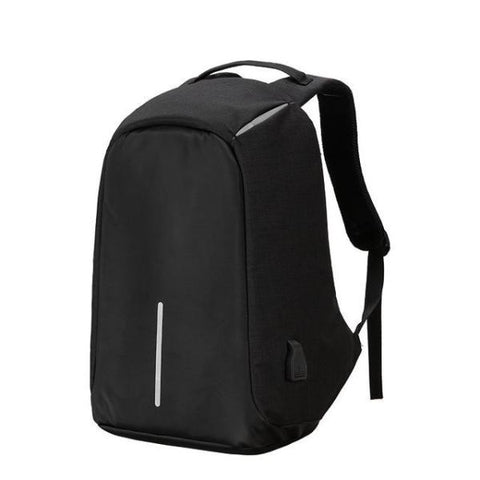 Anti Theft Usb Charging Backpack (Powerbank Required) Black Backpack