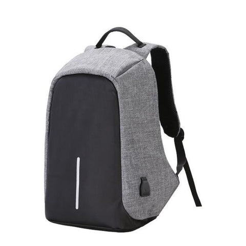 Anti Theft Usb Charging Backpack (Powerbank Required) Gray Backpack