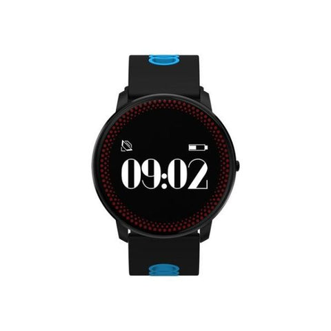 Awesome Fitness Tracker Smart Watch Black And Blue Watch