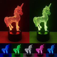 Image of Unicorn 3D Night Light