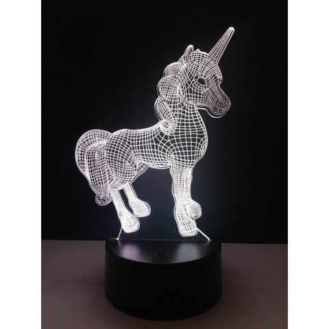 Unicorn 3D Night Light Household