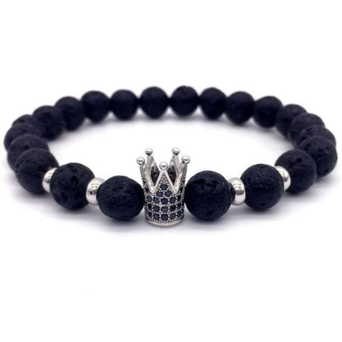 Royal Black Crown The Powerful One Micro Beaded Kings Bracelet 5 Bracelet