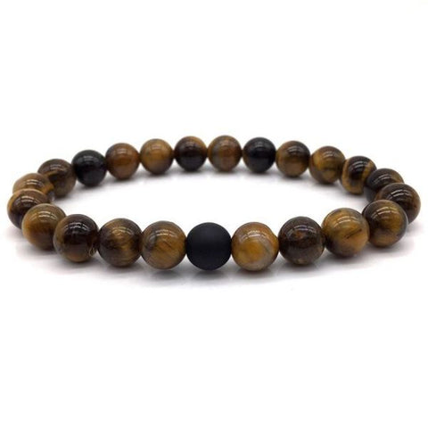 Tigers Eye Beaded Bracelet For Men B105-2 Bracelet
