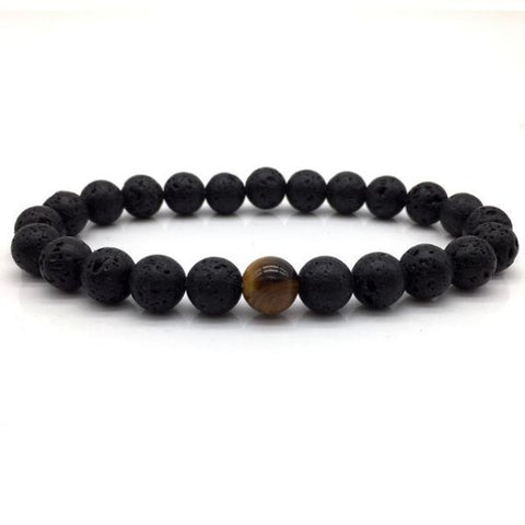 Tigers Eye Beaded Bracelet For Men B103-5 Bracelet