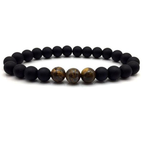 Tigers Eye Beaded Bracelet For Men B115-1 Bracelet